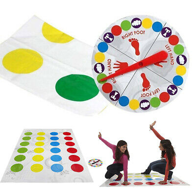 Funny Twister The Classic Game Body Game W/ 2 More Moves Family Party Games HOT!