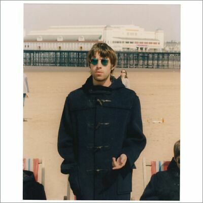 Liam Gallagher 95 Roll With It Single Cover Shoot Michael Jones Signed Photo UK