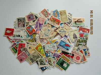 Cuba. Used stamps from the 1960's approx 190 stamps all different off paper