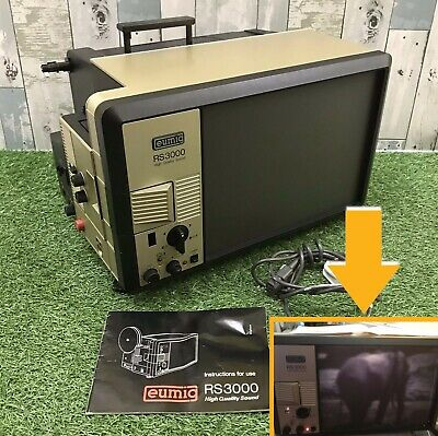 Vintage Eumig RS3000 Super 8 Projector TV Screen Complete & Boxed *WORKING*