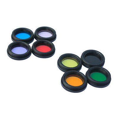 1.25 Telescope Eyepiece Color Filter Set Kit For Planet Moon Multi-color 8 X