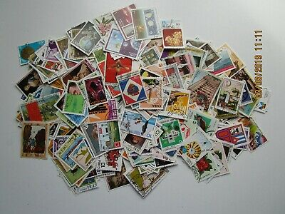 Cuba. 310 stamps from the 1970's off paper all different