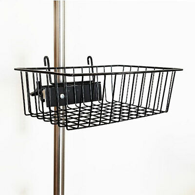 "MCM-217 Powder Coated Black Wire Basket 12""x8""x4"" Complete w/Bracket and Clamp"