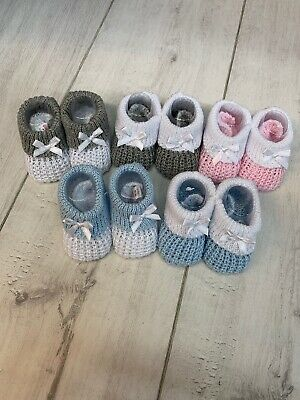 Knitted Baby Bootees, Boy, Girl, Unisex, Babyshower, Baby Gift