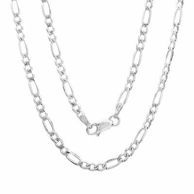 Sterling Silver Necklace FIGARO Chain Solid 925 Italy 3mm New Wholesale Prices