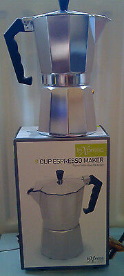 NEW LeXpress 9 Cup Espresso Maker Hob Perculator