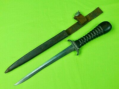 Antique French France German Germany WW1 Trench Fighting Knife Dagger & Sheath