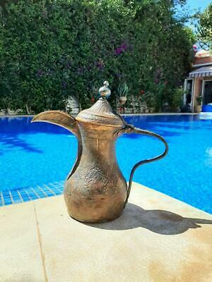 Huge Rare Antique Islamic Handmade Coffee Pot Ottoman Turkish Persian Dallah