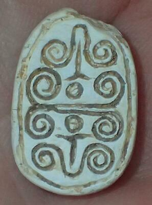 18mm Very Rare Ancient Egyptian Steatite Scarab Bead, 3000+ Years Old, #S1370