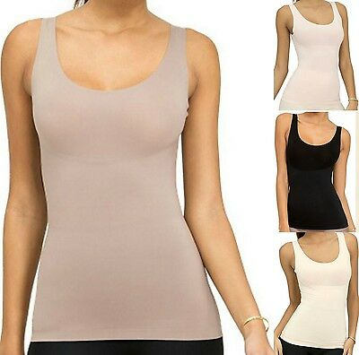 Fajas Colombian Trust Your Thinstincts Tank Top Camisole Seamless Long Line Vest