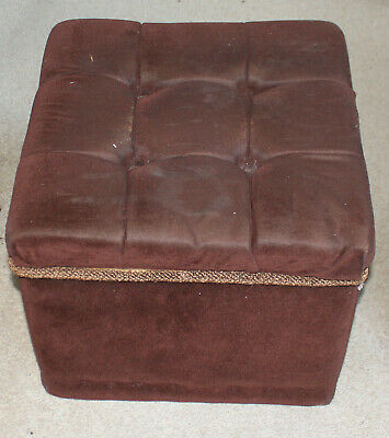 Solid Blanket Ottoman With Padded Seat for Upcycling or Upholstery Project