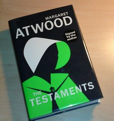 Margaret Atwood SIGNED The Testaments UK 1st Edition 1st Print (Handmaids Tale)