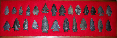 INDIAN Artifacts ARROWHEADS OHIO 26 AUTHENTIC SUPER FINE COSHOCTON POINTS AACA