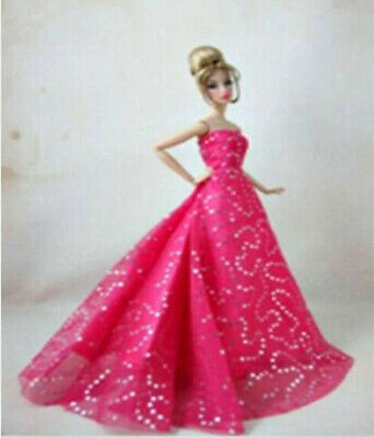 For BARBIE DOLL EVENING GOWN. HANDMADE STUNNING  - SHOES PURSE PEARL EARRINGS