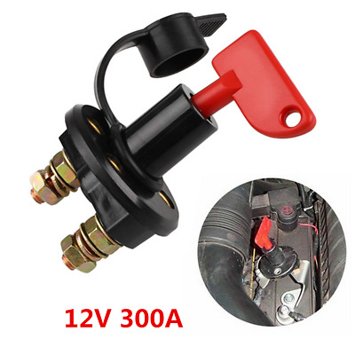 12V 300A Car Truck Boat Battery Isolator Disconnect OFF Power Kill Switch Kit