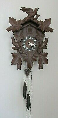 Vintage Hubert Herr Black Forest Triberg Germany Cuckoo Clock, Tested, Works