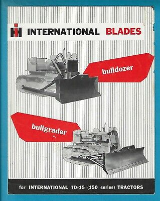 International Blades For Td-15 Tractors 4 Page Brochure