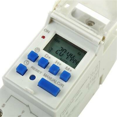 AC 220V 16A THC15A Timer Time Relay Switch Digital LCD DIN Programmable Rail AK