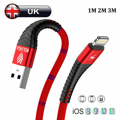 0.5M 1M 2M USB Lightning Charger & Data Sync Cable Lead For i-Phone 6 7 8 Plus