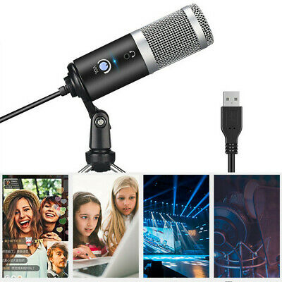 USB Microphone W/ Tripod Stand For Game Chat Studio Recording Computer PRO Z4N3