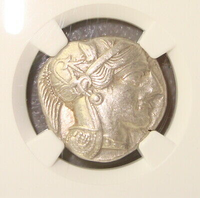 440-404 BC Attica, Athens Ancient Greek Silver Tetradrachm NGC Ch XF 4/5 4/5