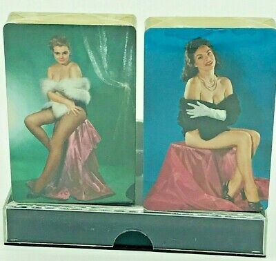 Vintage New Pin Up Playing Cards 2 Sets of Decks Sealed Lingerie Sexy Naughty
