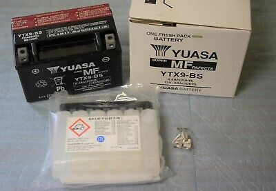 Batterie YUASA YTX9-BS 12V 8AH pour moto scooter neuf