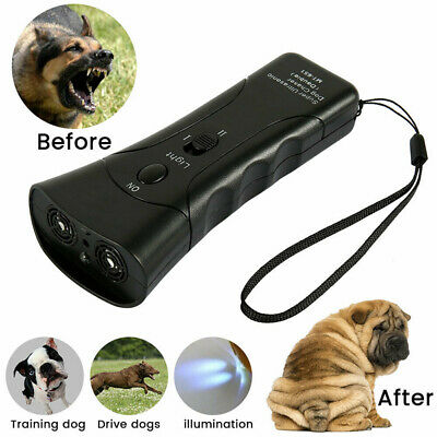 Petgentle Ultrasonic Anti Dogs Barking Pet Trainer LED Light Gentle Style