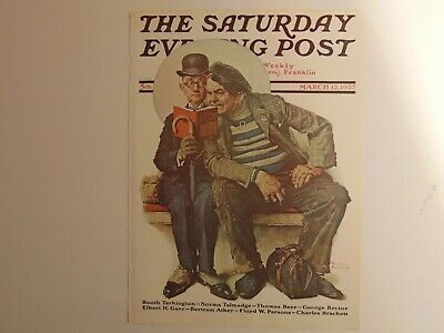 The Saturday Evening Post March 12 1927  (REPRINT) Norman Rockwell (COVER ONLY)