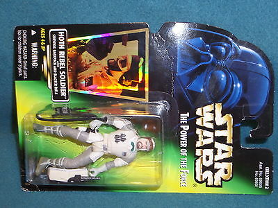 """Action Figure 3-3/4"""" Star Wars Power Of The Force Hoth Rebel Soldier 1996 Kenner"""