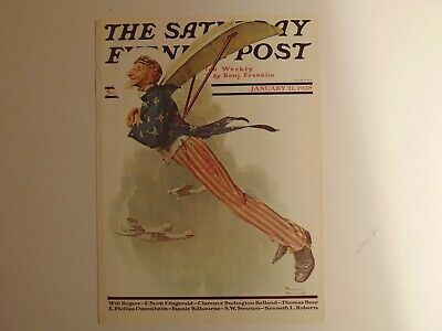 The Saturday Evening Post JAN 21 1928 (REPRINT) Norman Rockwell (COVER ONLY)
