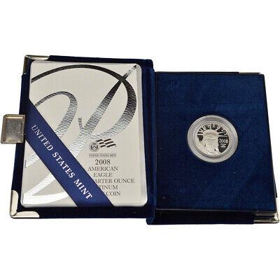2008 W American Platinum Eagle Proof 1/4 oz $25 in OGP