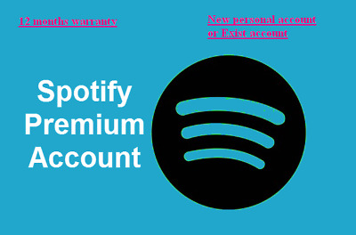 Spotify Premium / Up to 12 months / Worldwide /Warranty / New or exist