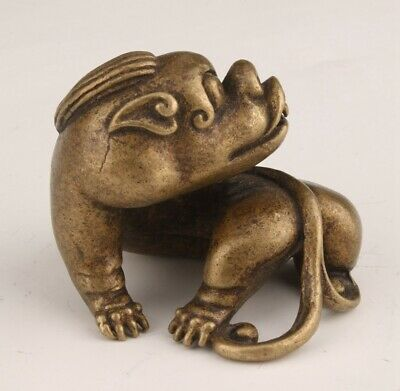 Unique China Bronze Statue Kylin Solid Mascot Home Decoration Craft Gift
