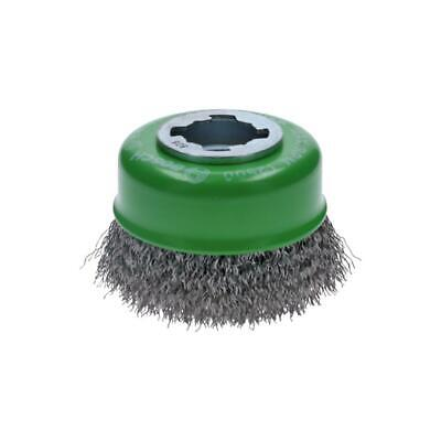 Bosch WBX319 3 Inch Cup Brush X-Lock Crimped Stainless Steel