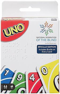 UNO Braille Card Game Target EXCLUSIVE Deck of Playing Cards NEW In Hand
