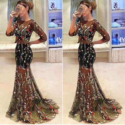 Women Formal Wedding Evening Cocktail Ball Gown Party Prom Bridesmaid Long Dress