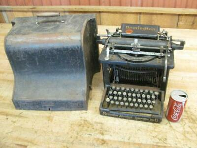 Early Antique 1901 Remington Standard No 6 Typewriter Old with lid Needs work