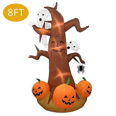Halloween Inflatable Deco Outdoor Large Scary Pumpkin Jack-O-Lantern Tree Ghost