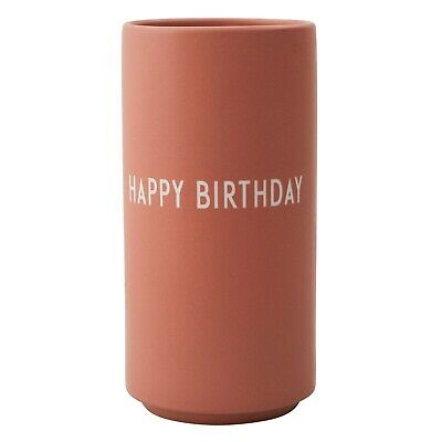 Favourite Vase Happy Birthday Nude Design Letters