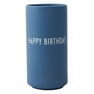 Favourite Vase Happy Blau Design Letters