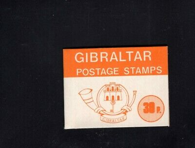 Gibraltar 1977-1980  30p Orange  Nature definitives Sachet Booklet