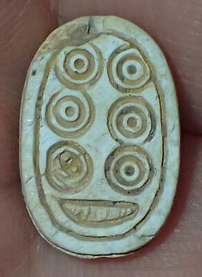 16mm Very Rare Ancient Egyptian Steatite Scarab Bead, 3000+ Years Old, #S1831
