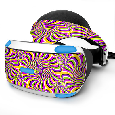 Skin Wrap for Sony Playstation PSVR Headset Psychedelic Swirls Holographic