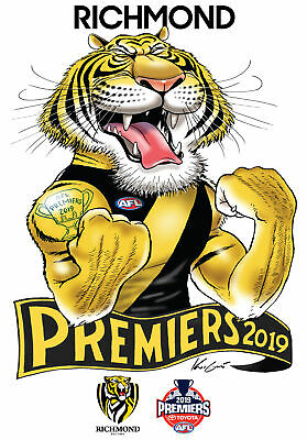 Richmond Tigers AFL Premiers 2019 Mark Knight Caricature Illustration Sticker