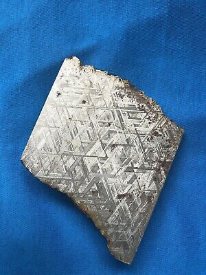 MUONIONALUSTA IRON METEORITE Etched Slab Slice Specimen SWEDEN AUTHENTIC