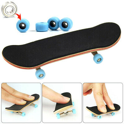 New Complete Wooden Fingerboard Finger Skate Board Grit Foam Tape Maple Wood