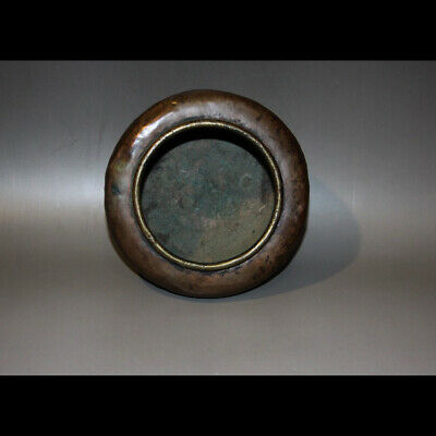Wonderful Rare 18th Century Old Antique Tibet Buddhist Red Copper Offering Bowl