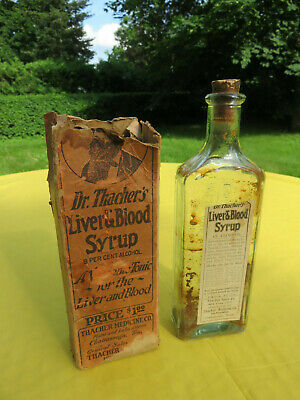 Vintage Dr. Thacher's Liver & Blood Syrup, Its Claims Denied By The Government