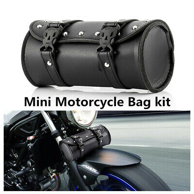 Universal Motorcycle Cruiser Tool Bag Fork Barrel Shape Handlebar Front Fork Bag